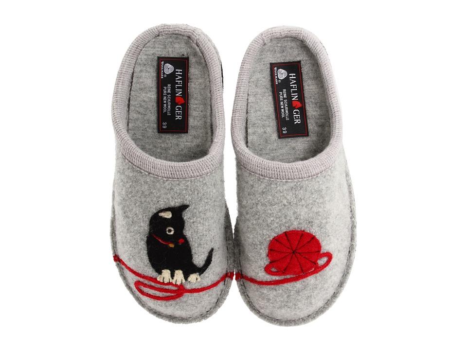 Haflinger - Cat Slipper (Grey) Womens Slippers