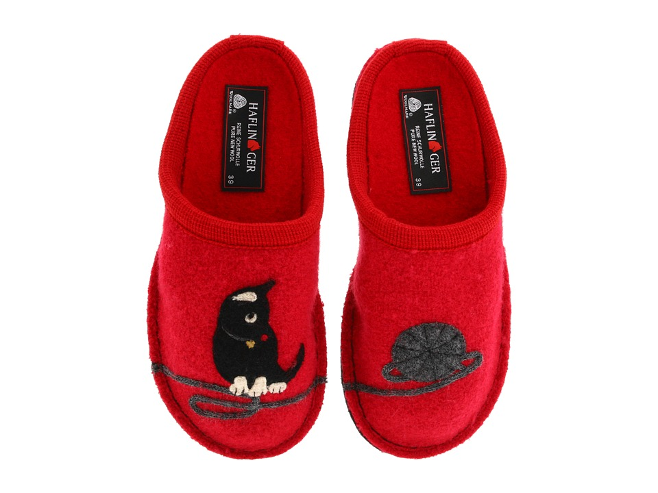 Haflinger - Cat Slipper (Red) Women's Slippers