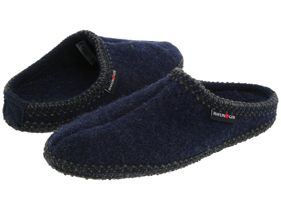 Haflinger AS Classic Slipper Navy Slippers