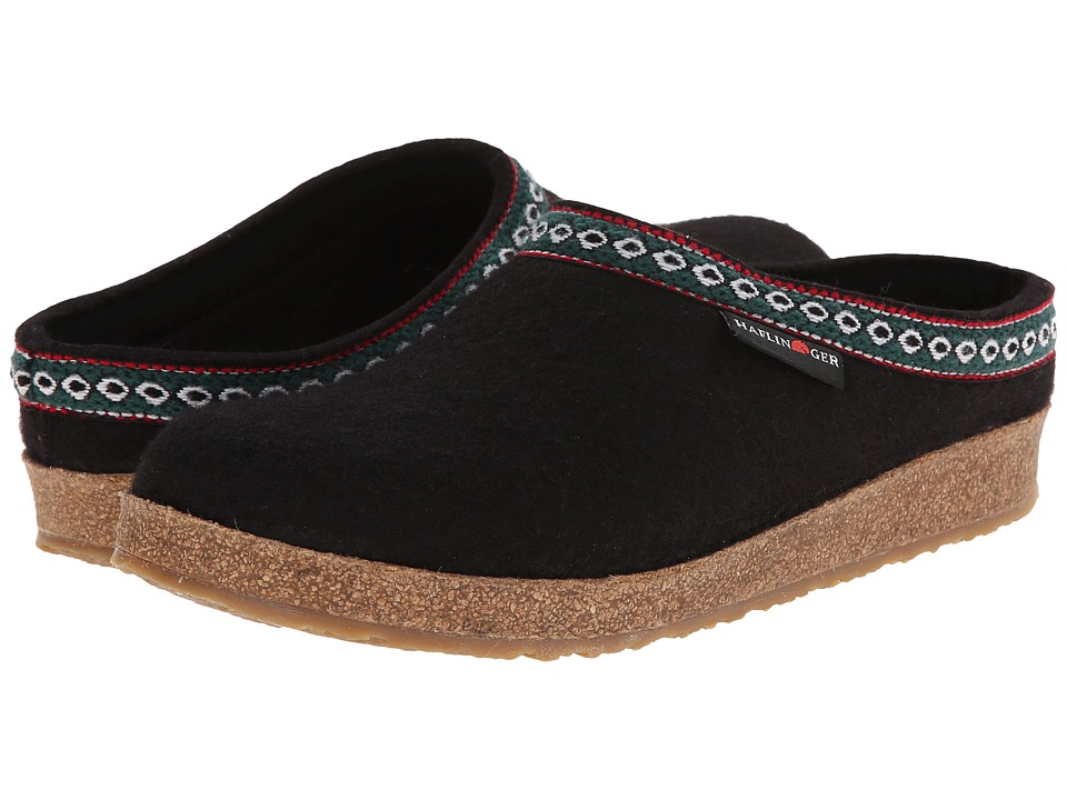 Haflinger of Germany GZ Classic Grizzly (Black) Clog Shoes