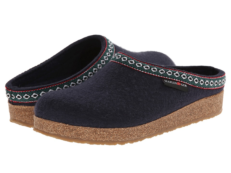 Haflinger of Germany GZ Classic Grizzly (Navy) Clog Shoes