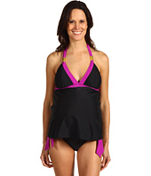 Maternal America - Maternity Tammy 2 Piece Tankini w/ Strap Ornaments
