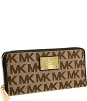 MICHAEL Michael Kors - MK Logo Zip Around Continental