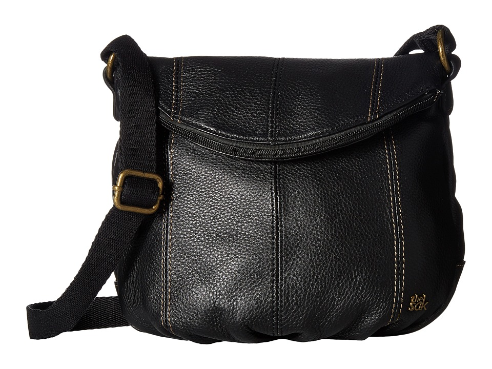 The Sak - Deena Crossbody Flap (Black) Cross Body Handbags