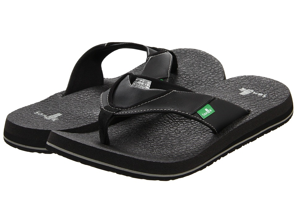 Sanuk - Beer Cozy (Black) Men's Sandals