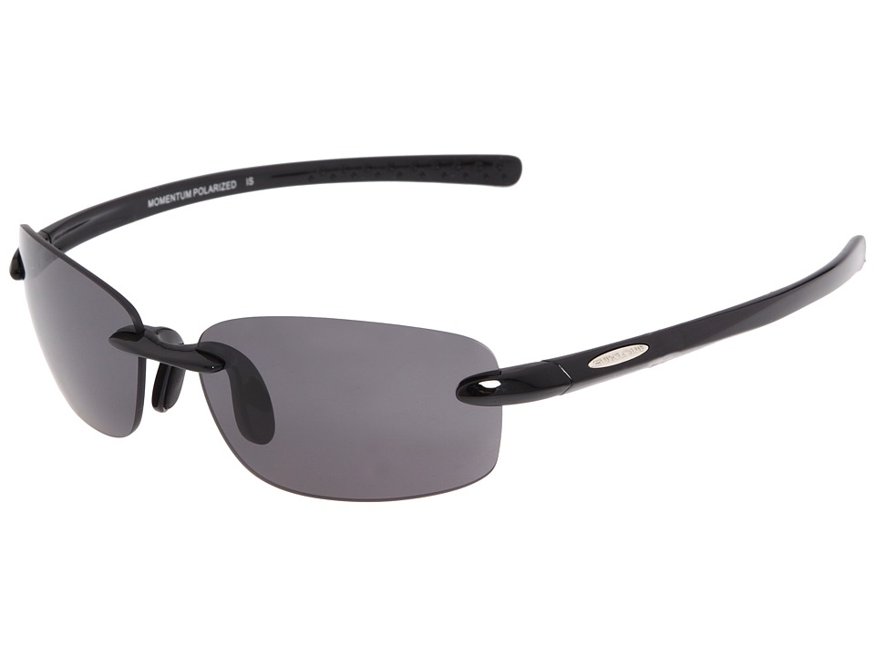 SunCloud Polarized Optics - Momentum (Black/Gray Polarized Lens) Sport Sunglasses