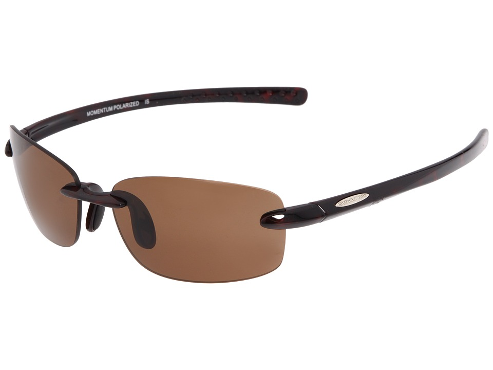 SunCloud Polarized Optics Momentum Tortoise/Brown Polarized Lens Sport Sunglasses