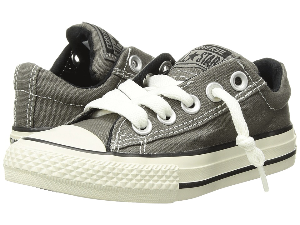 Converse Kids - Chuck Taylor(r) All Star(r) Street Ox (Little Kid/Big Kid) (Charcoal) Kids Shoes