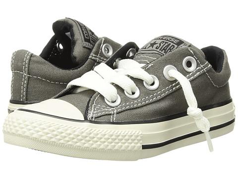 Converse Kids Chuck Taylor® All Star® Street Ox (Little Kid/Big Kid) - Charcoal