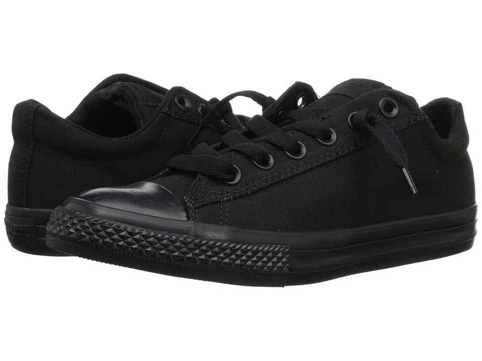 Converse Kids Chuck Taylor All Star Street Ox (Little Kid/Big Kid) (Black Mono) Kid
