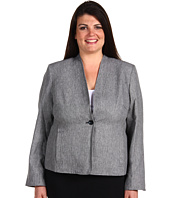 Jones New York - Plus Size One Button Flat Front Jacket