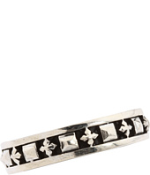 King Baby Studio - Stackable Studded Ring with MB Crosses