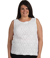 Jones New York - Plus Size Crocheted Tank