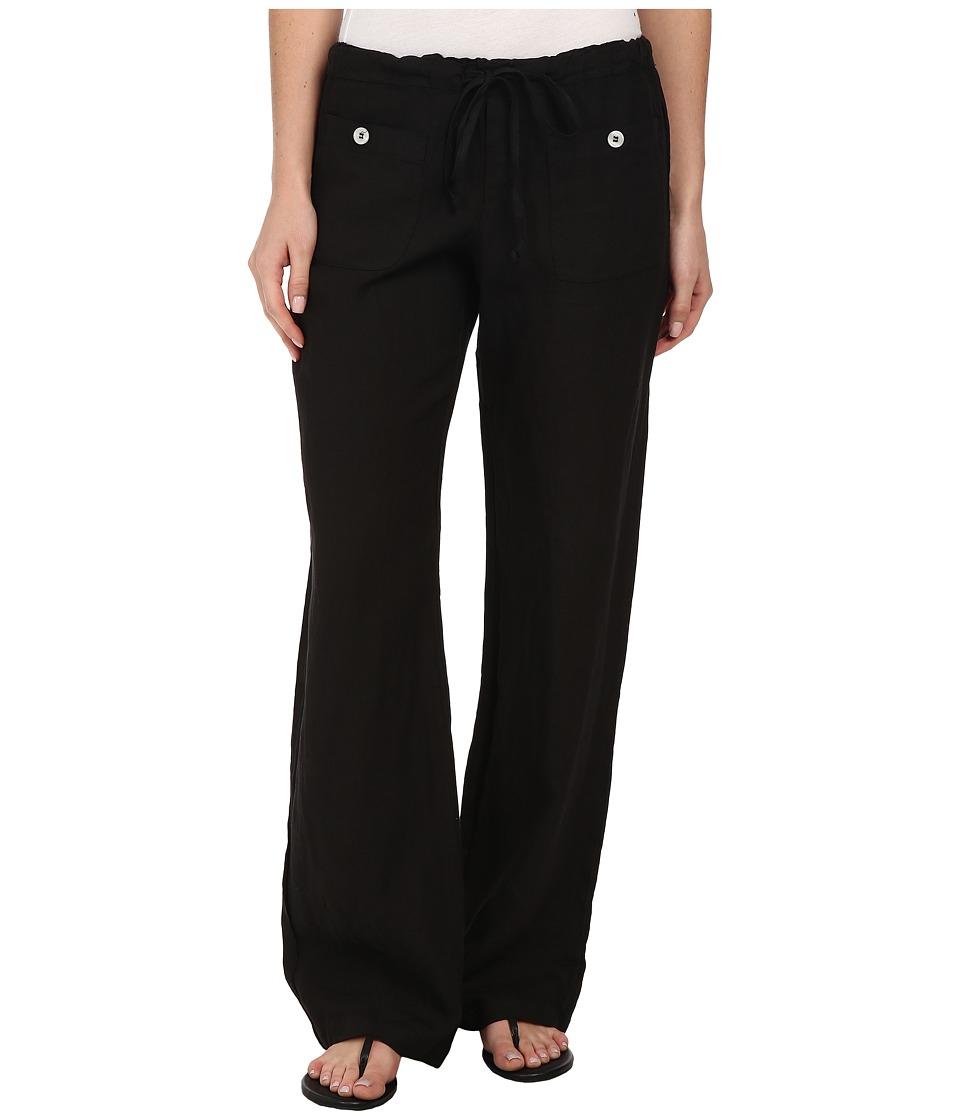 Allen Allen Linen Long Pant LL9497 (Black) Women's Casual...
