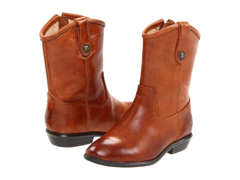 Frye Kids Melissa Button Toddler Cognac Cowboy Boots