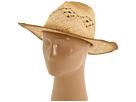San Diego Hat Company RHC1020 Raffia Cowboy Hat with Macramae