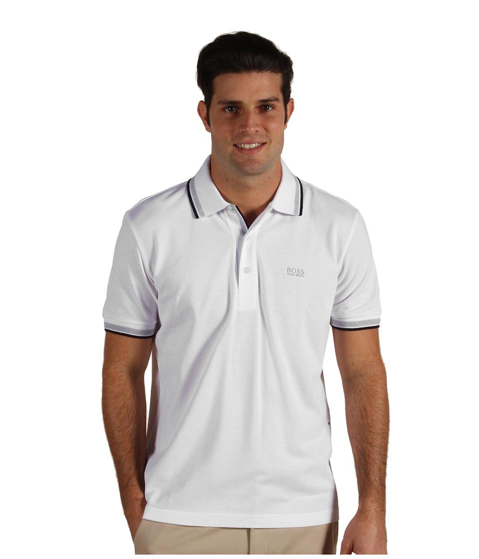 BOSS Green Paddy Polo 10102943 Training White Mens Short Sleeve Pullover