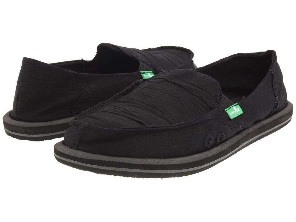 Sanuk - Shuffle (Black) Womens Skate Shoes