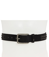John Varvatos - 38mm Harness Buckle Chain Inlay Strap Belt