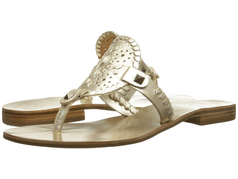 Jack Rogers Georgica Platinum Womens Sandals