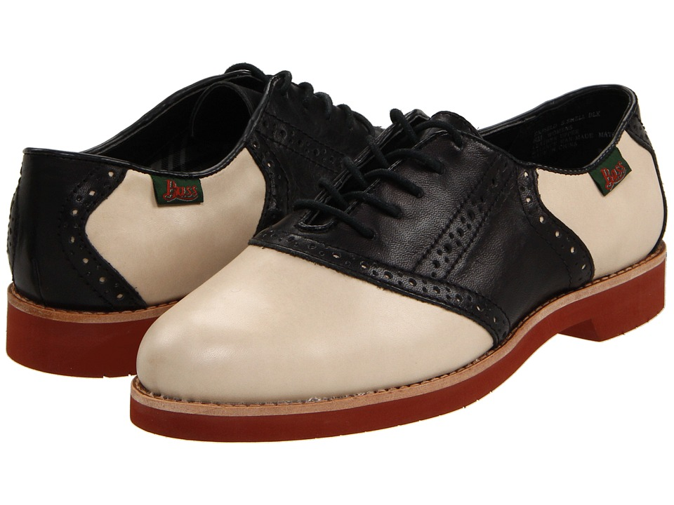Bass - Enfield ShellBlack Womens Lace up casual Shoes $89.00 AT vintagedancer.com