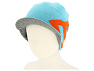 DC Kids - Cascata Visor Beanie (Youth) (Blue/Radiance/Galvanized) - Hats