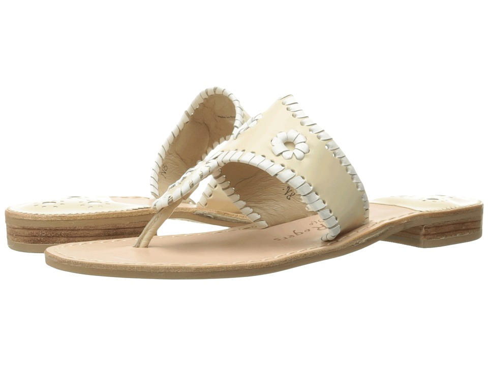 Jack Rogers Palm Beach (Bone/White) Sandals