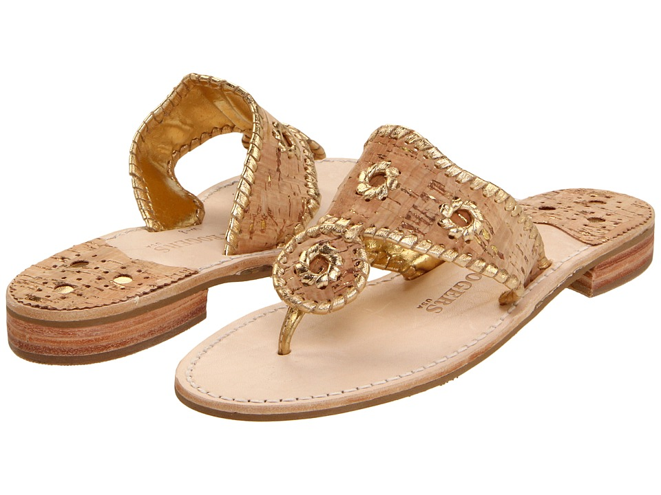 Jack Rogers Napa Valley (Cork/Gold Stitching) Sandals