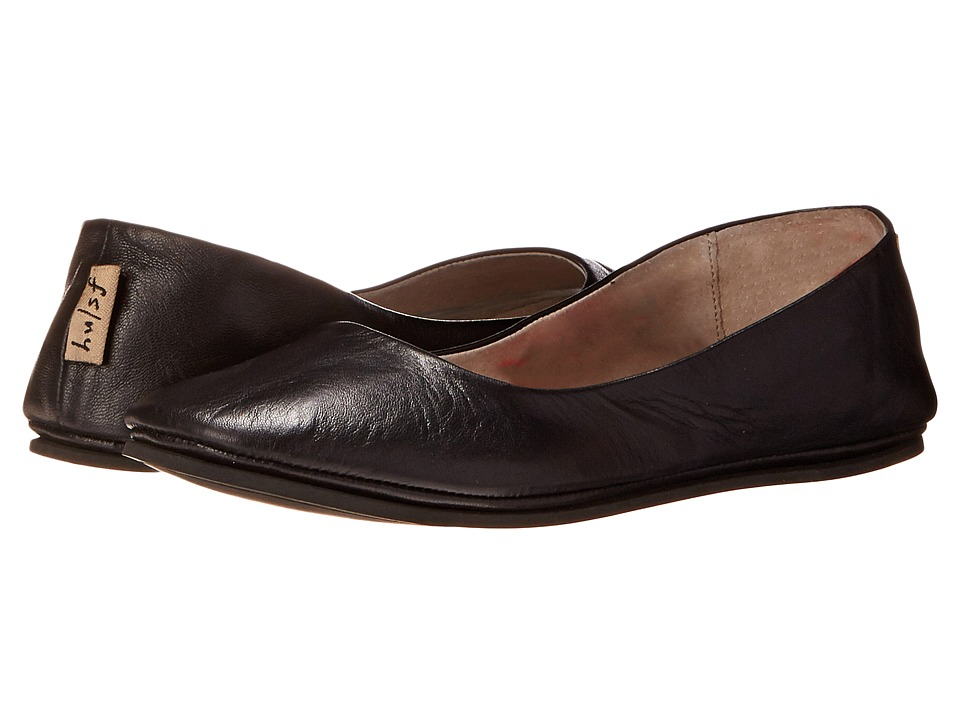 French Sole Sloop Flat (Black Nappa Leather) Flats
