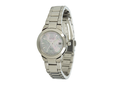 Citizen Watches EW1670-59D Silhouette Sport Eco Drive Watch - Stainless Steel/Mother Of Pearl