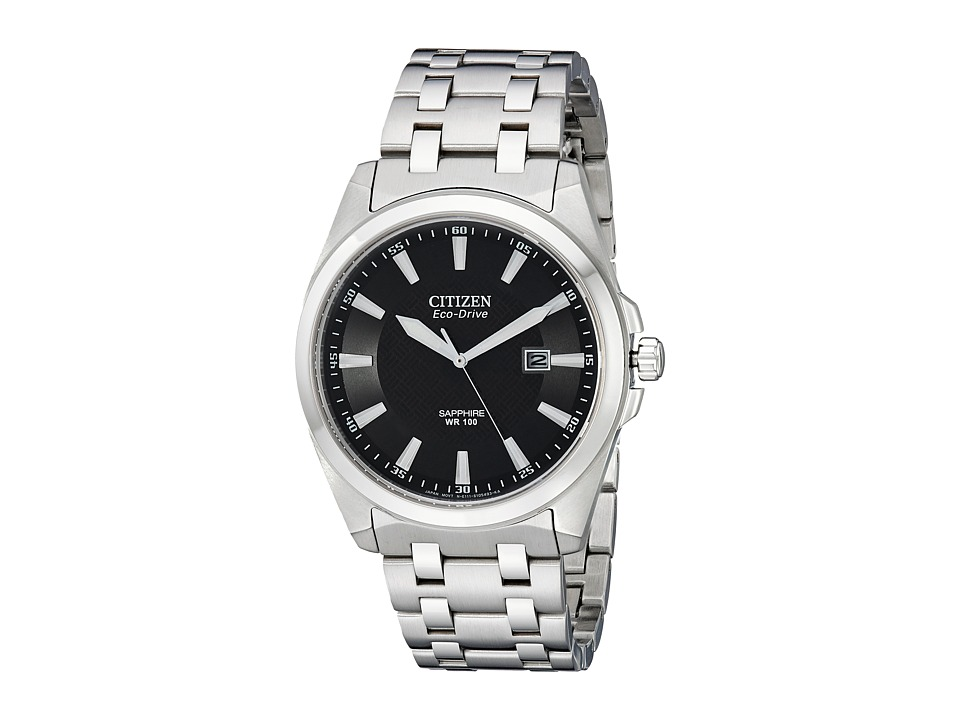 Citizen Watches - BM7100-59E Corso Eco Drive Watch (Stainless Steel/Black) Analog Watches