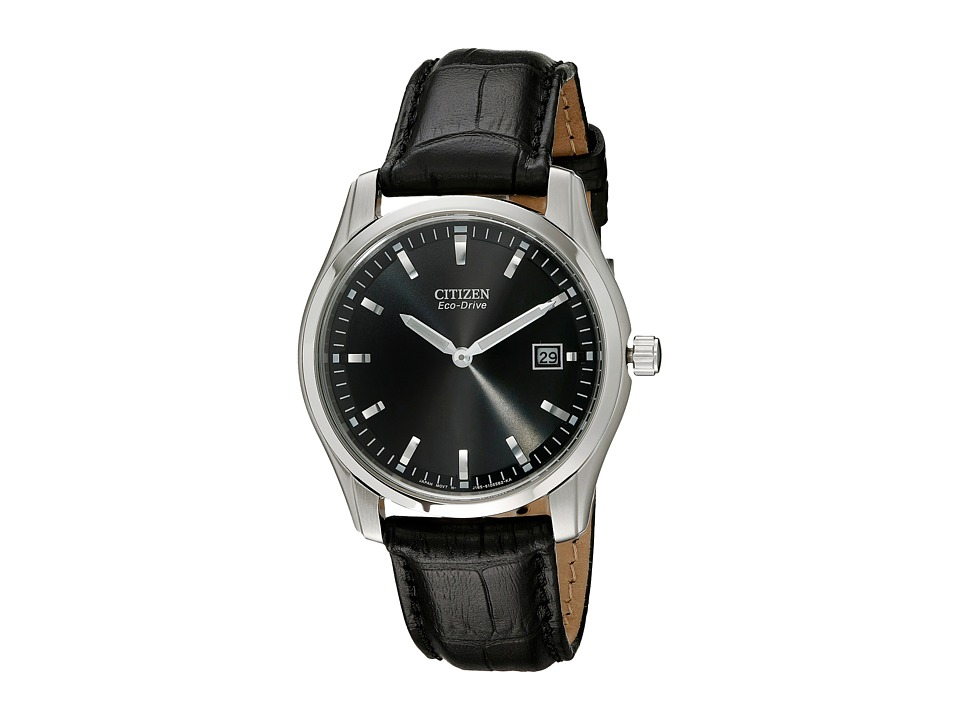 Citizen Watches - AU1040-08E Eco Drive Watch (Black/Silver/Black) Analog Watches