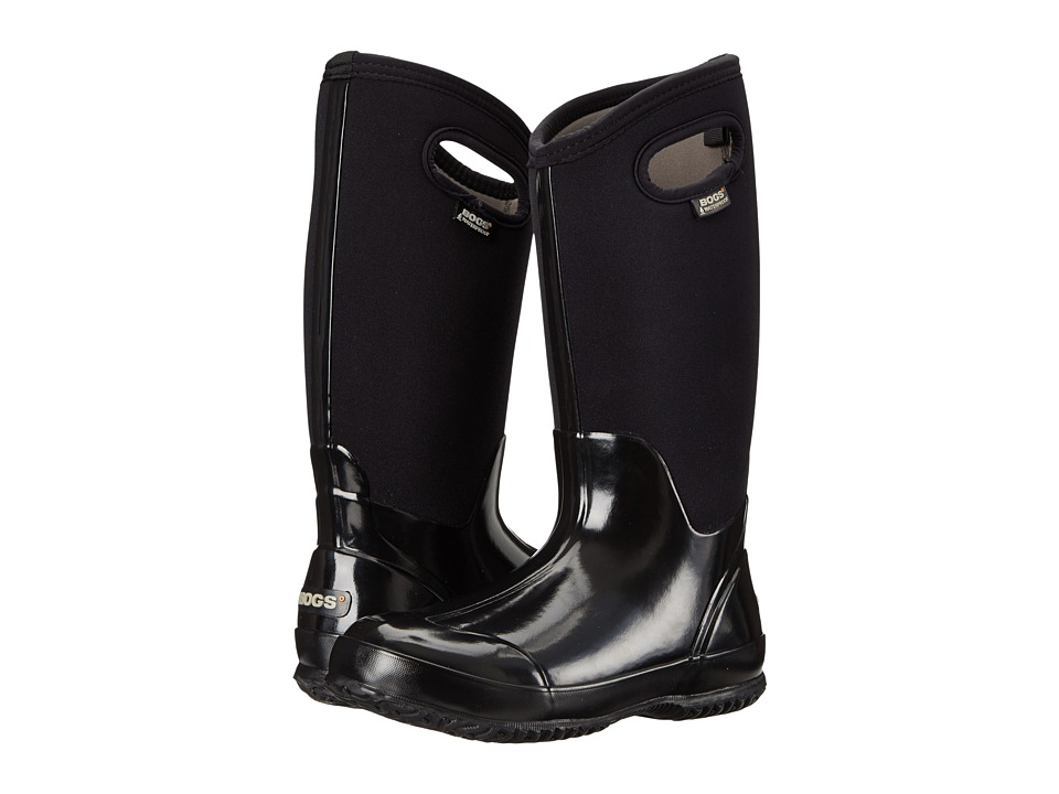 Bogs - Classic High Handles (Black Shiney) Womens Boots