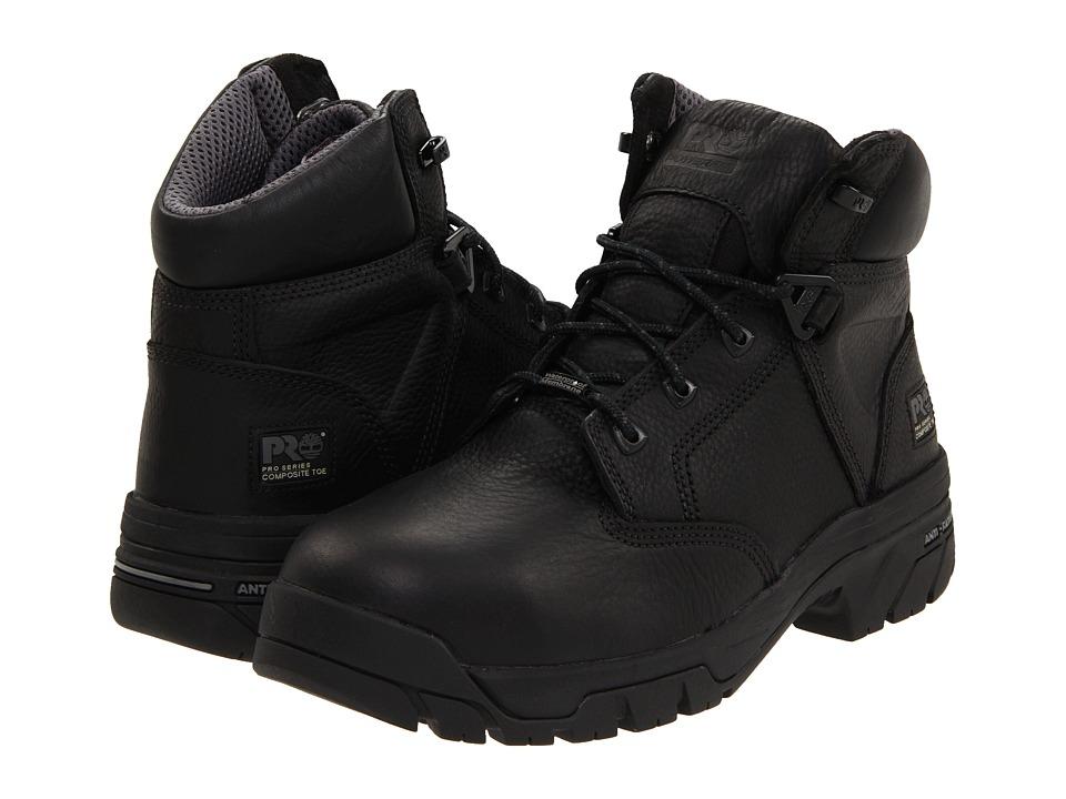 Timberland PRO - Helix 6 Waterproof Composite Toe (Black) Mens Work Boots
