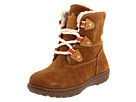 Timberland Kids - Willow Woods Waterproof Lace-Up Boot w/ Side Zip (Infant/Toddler) (Rust Suede) - Footwear