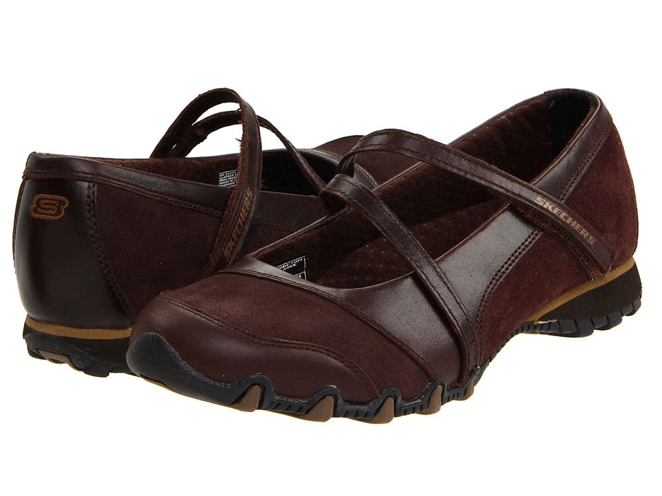 Skechers Bikers - Step-Up (Toffee Leather) Women's Shoes