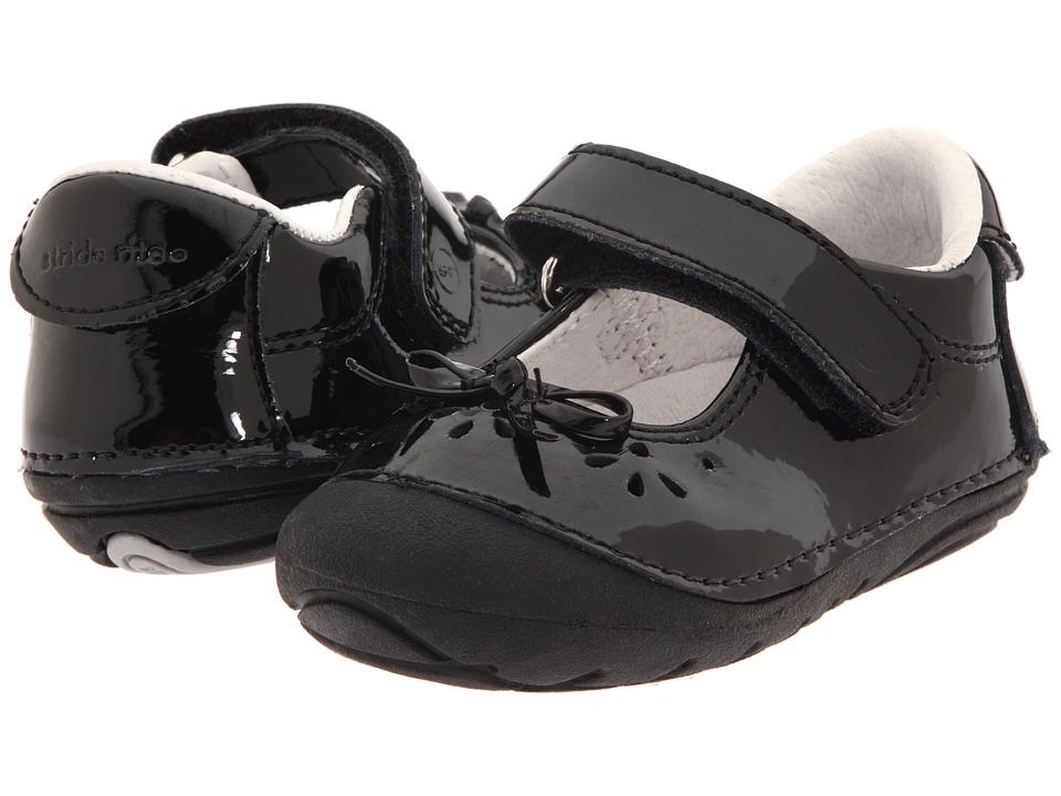 Stride Rite SRT SM Jane (Infant/Toddler) (Black Patent) Girl's Shoes