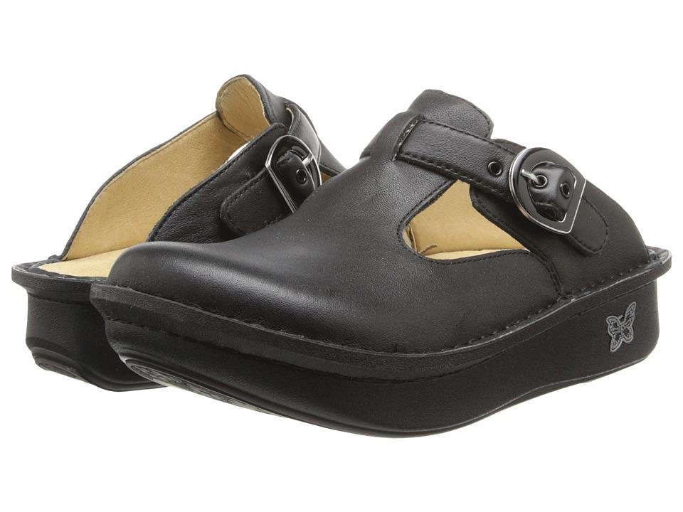 Alegria Classic (Black Napa Leather) Women's Clogs