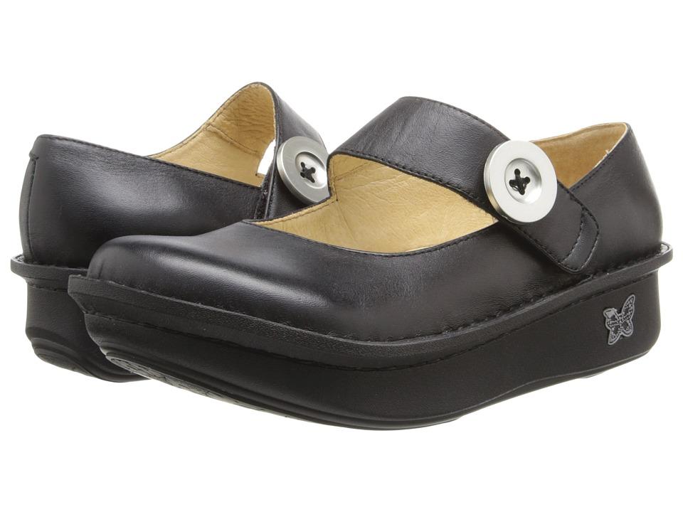 Alegria Paloma (Black Leather) Maryjane Shoes