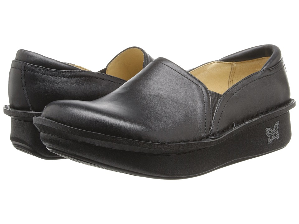 Image of Alegria - Debra Professional (Black Leather) Women's Slip on Shoes