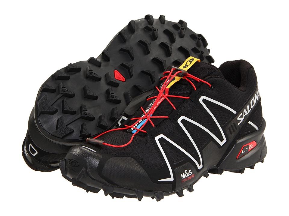 Salomon - Speedcross 3 (Black/Black/Silver Metallic-X) Mens Running Shoes