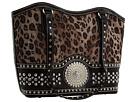 M&F Western Blazin Roxx Faux Croc Bag (Leopard)