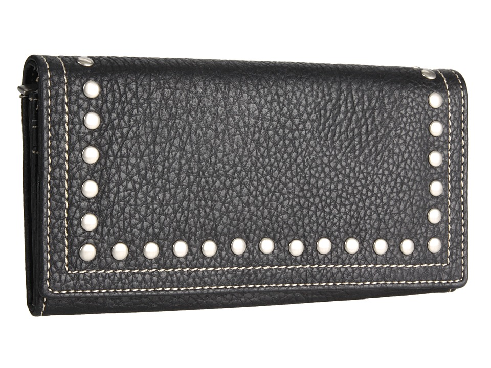 American West - Bandana Flap Wallet (Black) Handbags
