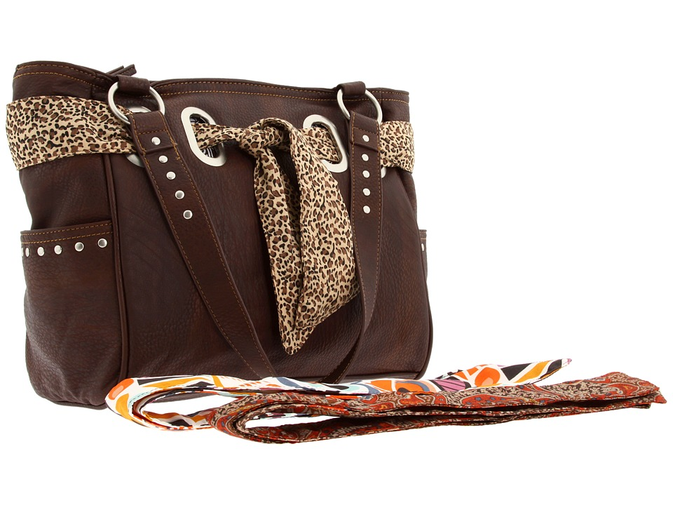 American West - Bandana Signature Collection Carry All Tote (Chocolate) Handbags
