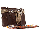 American West Bandana Signature Collection Carry All Tote (Chocolate)