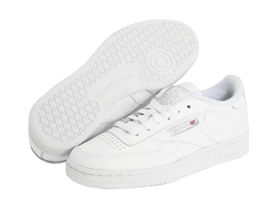Reebok Kids - Club C Core Classic (Big Kid) (White/Sheer Grey) Kids Shoes