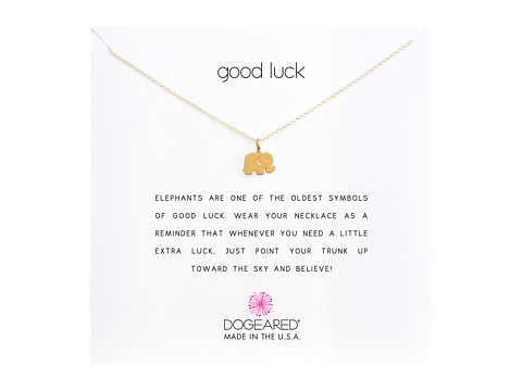 Dogeared Good Luck Elephant Reminder Necklace - Gold Dipped