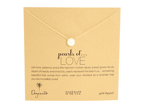 Dogeared Pearls of Love Necklace - Gold Dipped
