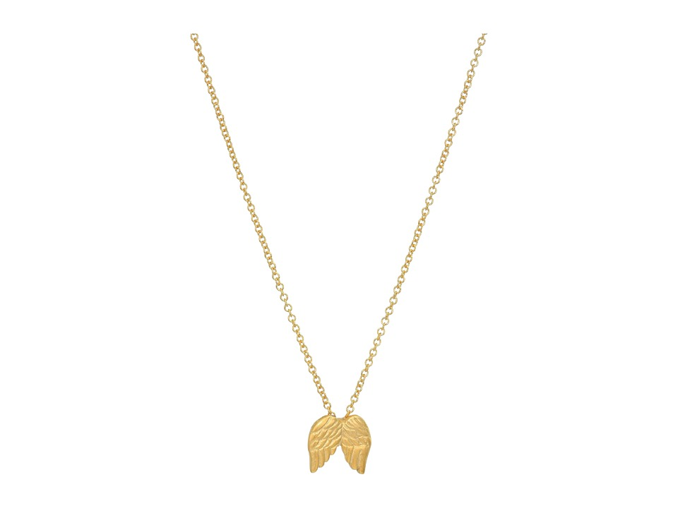 Dogeared - Guardian Angel Reminder Necklace (Gold Dipped) Necklace
