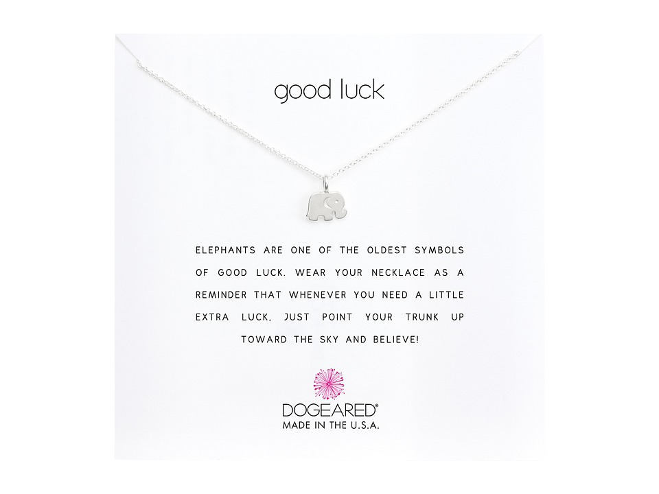 Dogeared Good Luck Elephant Reminder Necklace Sterling Silver Necklace